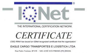 EAGLE CARGO  –  CERTIFICAÇÃO ISO 9001:2015